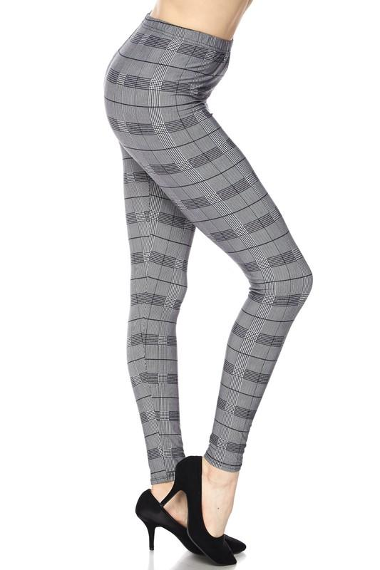 Plaid Big Checker Print Ankle Leggings - by 2NE1 - available at rkcollections.myshopify.com - O/S - Leggings