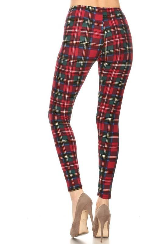 Plaid Legging - by Red Ribbon - available at rkcollections.myshopify.com - ONE SIZE - Leggings
