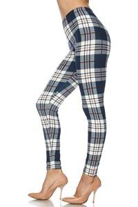 Plaid Print Legging - by 2NE1 - available at rkcollections.myshopify.com - ONE SIZE - Leggings