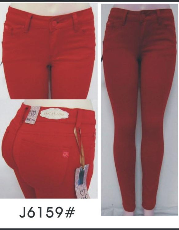 Red Skinny Jeans - by J&C - available at rkcollections.myshopify.com -  - Jeans
