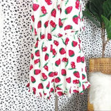 -Entro-Strawberry sleeveless romper-RK Collections Boutique