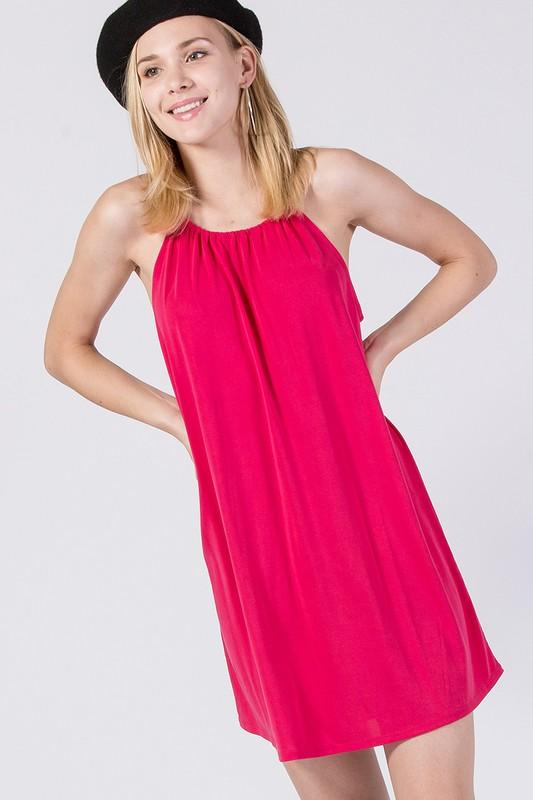 sandwashed modal sleeveless dress - by Double Zero - available at rkcollections.myshopify.com -  - Dress