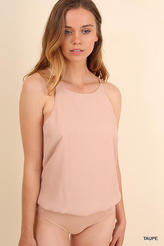 Sleeveless Bodysuit - by Umgee - available at rkcollections.myshopify.com -  - Tops-Bodysuit