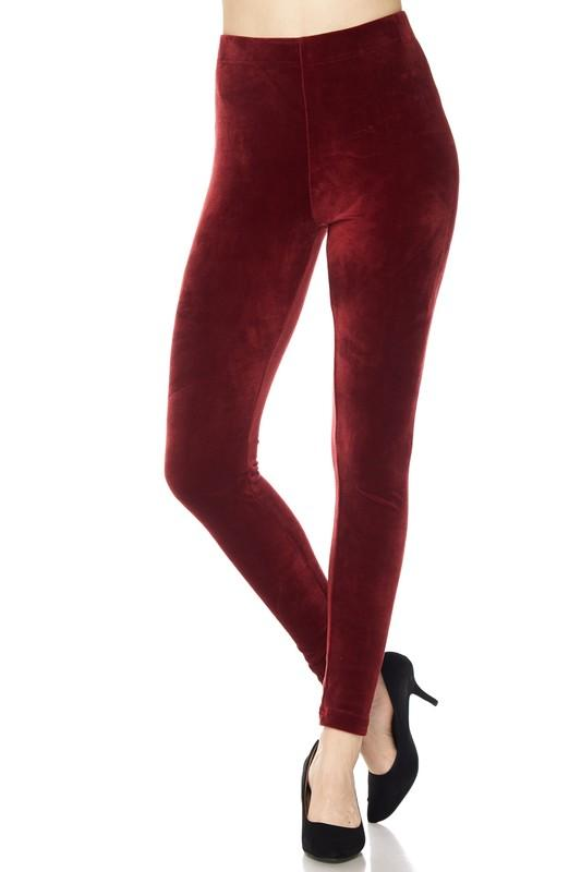 solid velour brushed ankle leggings - by 2NE1 - available at rkcollections.myshopify.com -  - Leggings