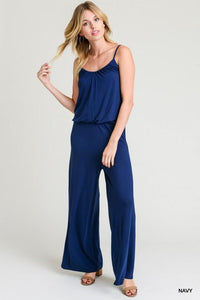Spaghetti Strap Jumpsuit with Elastic Waistband - by Jodifl - available at rkcollections.myshopify.com -  - Jumpsuit