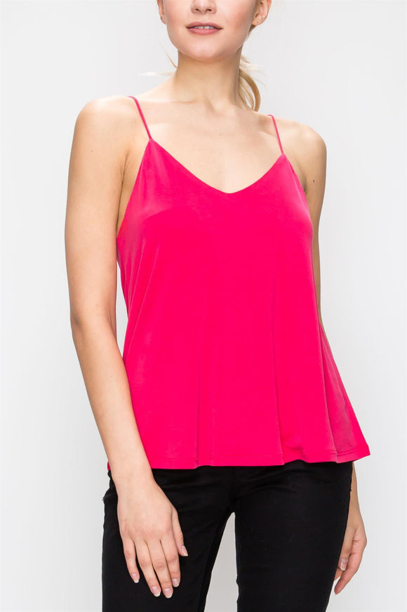 Spaghetti Strap Tank with Cutout Back Detail - by HyFve - available at rkcollections.myshopify.com -  - Tops