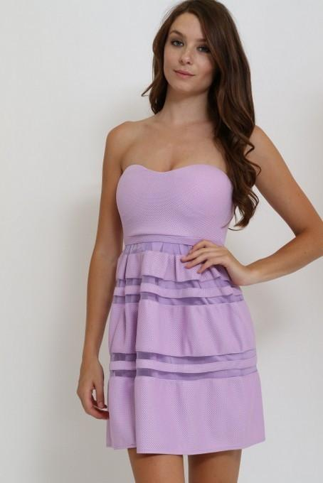 strapless fit and flare dress - by Cals - available at rkcollections.myshopify.com -  - Dress