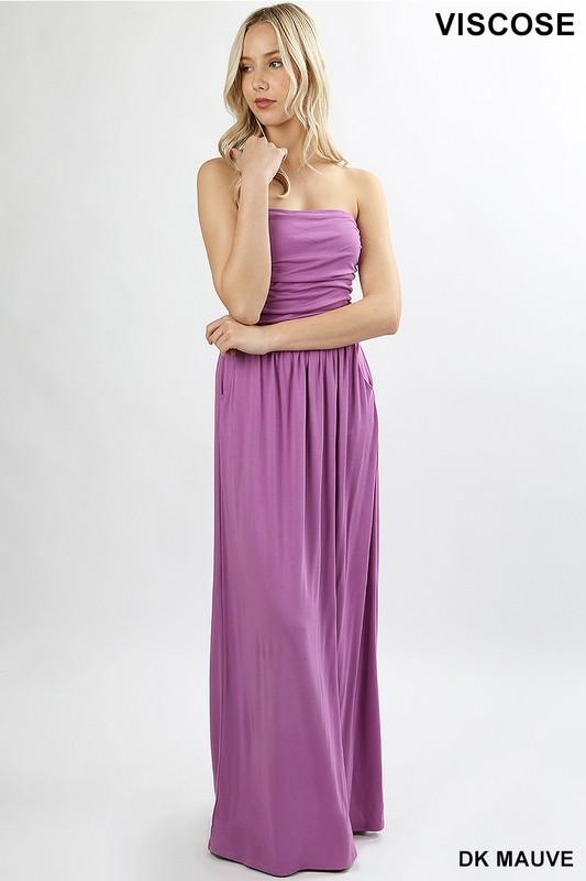 23fcb9f128e ... Strapless Jersey Maxi Dress - by Zenana - available at  rkcollections.myshopify.com -