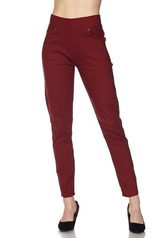 Stretch Twill Pocket Skinny Pants - by 2NE1 - available at rkcollections.myshopify.com -  - Leggings