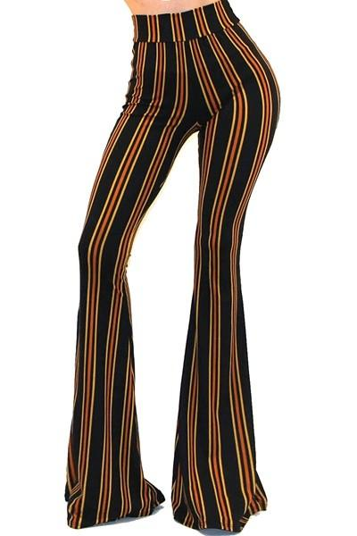 STRIPED BELL BOTTOM PANTS - by Got Style - available at rkcollections.myshopify.com -  - Pants