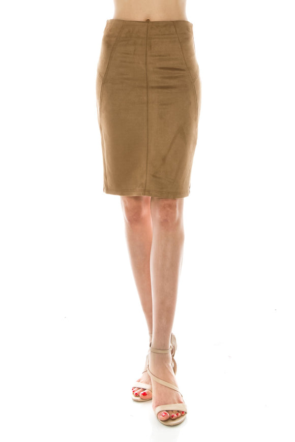 suede pencil skirt (3 colors) - by Favlux - available at rkcollections.myshopify.com -  - Skirts