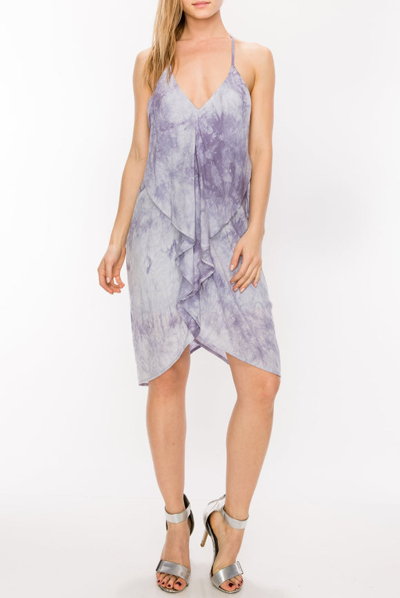 Tie Dye Drape Back Dress - by Favlux - available at rkcollections.myshopify.com -  - Dress