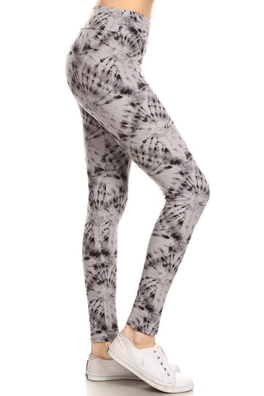 Tie dye print yoga leggings - by Awesome J - available at rkcollections.myshopify.com - ONE SIZE - Leggings