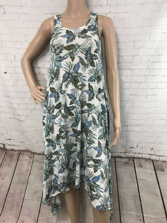 Tropical Print A Line Maxi Dress - by I Joah - available at rkcollections.myshopify.com -  - Dress
