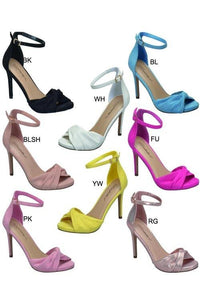 twist toe strap high heel shoe - by Breckelle's - available at rkcollections.myshopify.com -  - Shoe:Heel