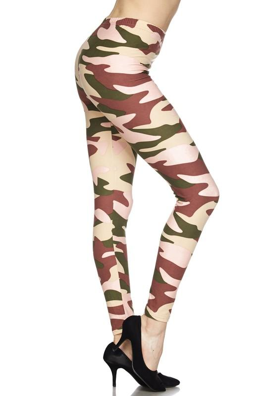 Underground Camo Print Ankle Leggings - by 2NE1 - available at rkcollections.myshopify.com - O/S - Leggings