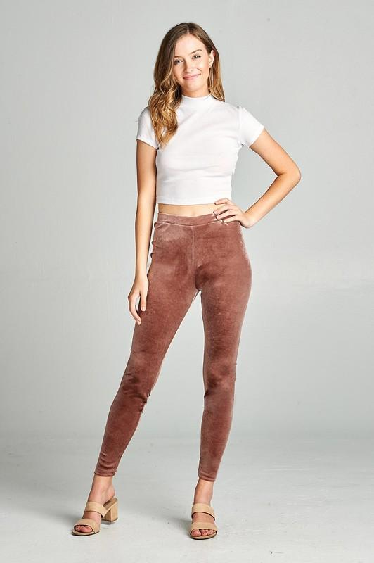 velvet leggings (more colors) - by Active USA - available at rkcollections.myshopify.com -  - Leggings