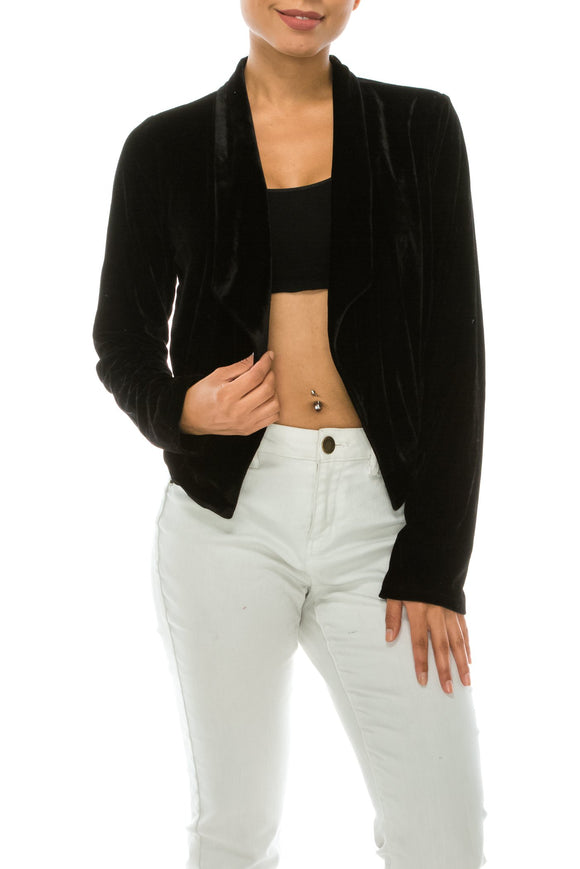 velvet short jacket - by Favlux - available at rkcollections.myshopify.com -  - Tops-Jacket