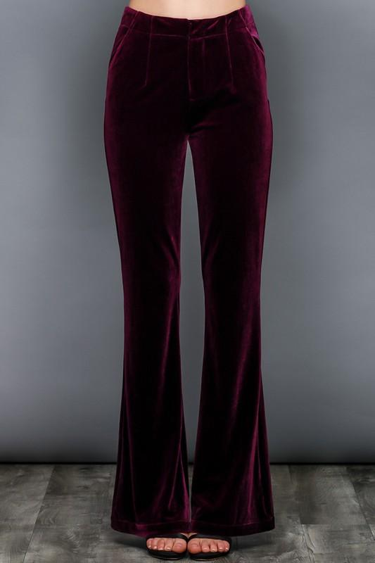 velvet trouser pants (2 colors) - by Do & Be - available at rkcollections.myshopify.com -  - Pants
