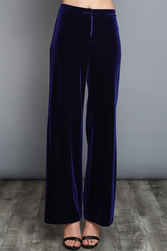 velvet wide leg trouser pants (2 colors) - by Do & Be - available at rkcollections.myshopify.com -  - Pants