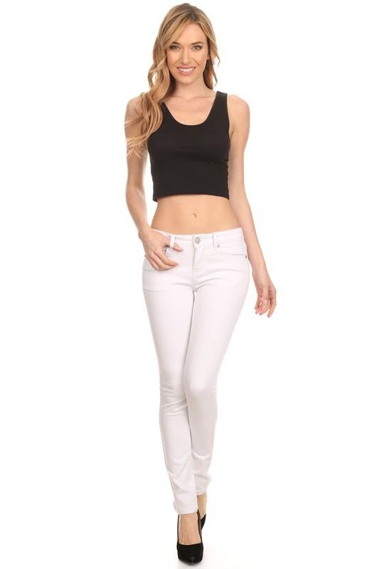 White Denim Skinny Jean - by Enjean - available at rkcollections.myshopify.com -  - Jeans