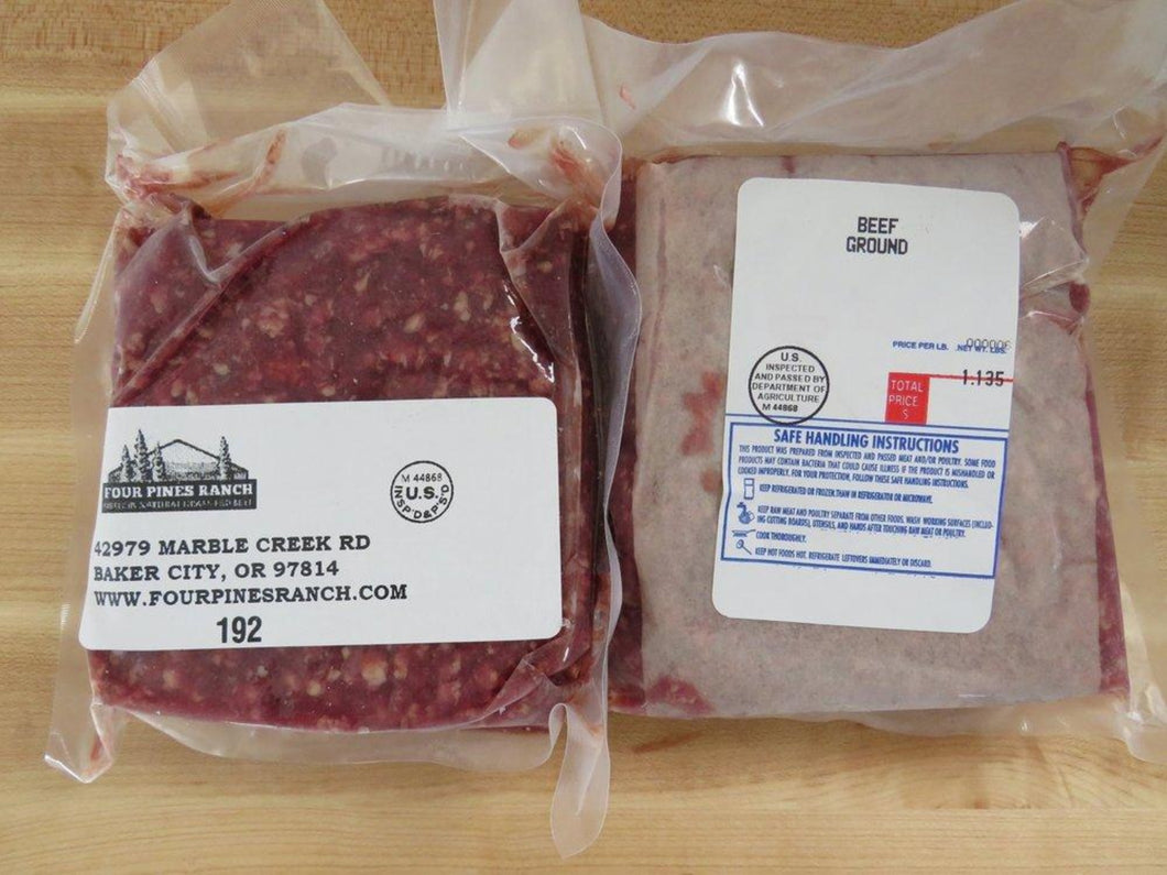 grassfed ground beef in 1# packages