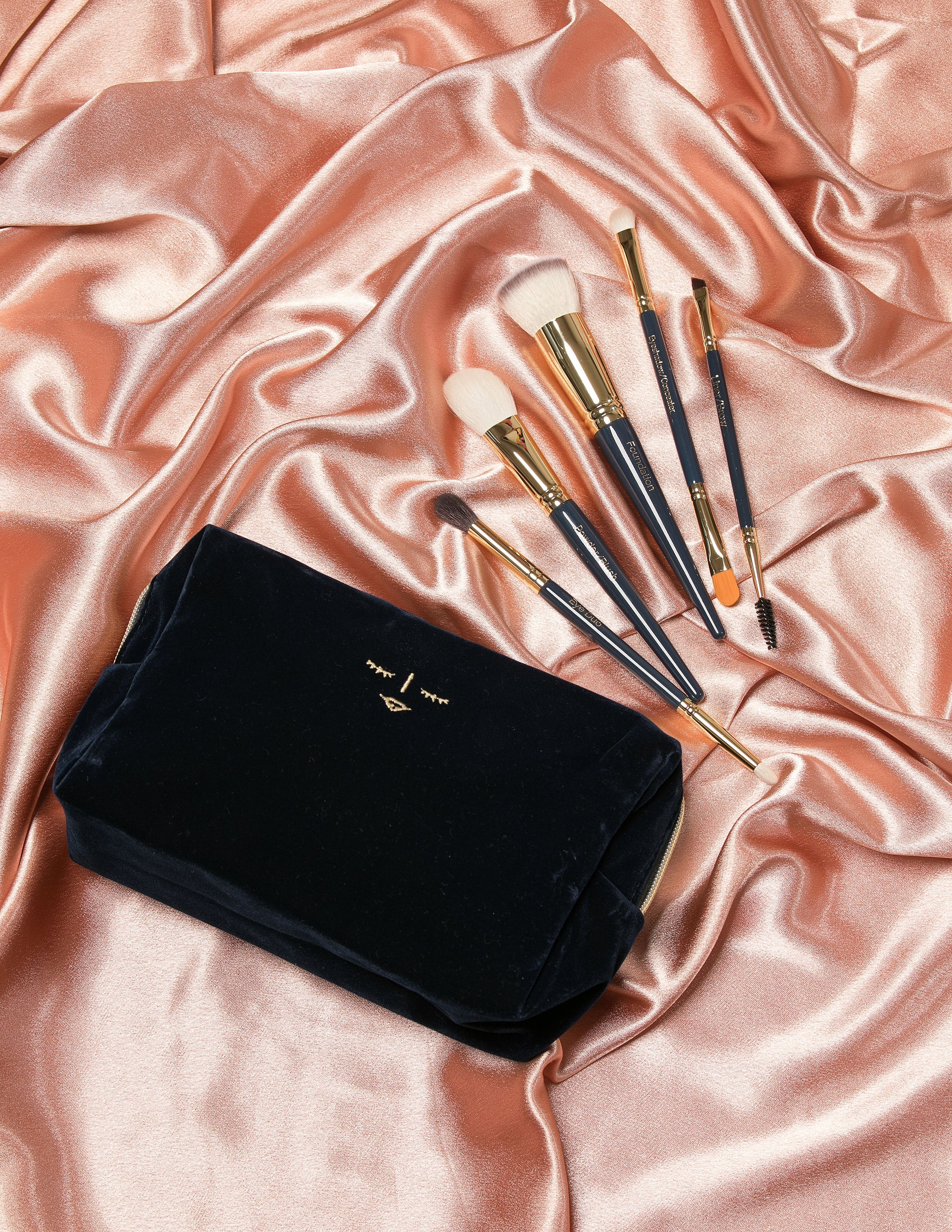 New SK Collection Velvet Make Up Bag