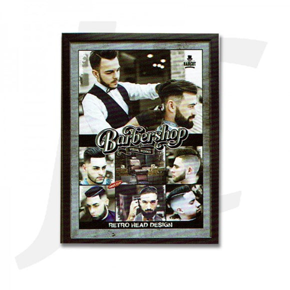 Barber Poster With Frame N-09 55x40cm J36PN9