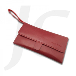 PuLuoMaSi Premium Soft Leather Tool Wallet Red J27PLD