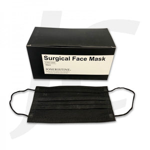 PPE Surgical Black Face Mask 50pcs J21F4X [Limit 2]