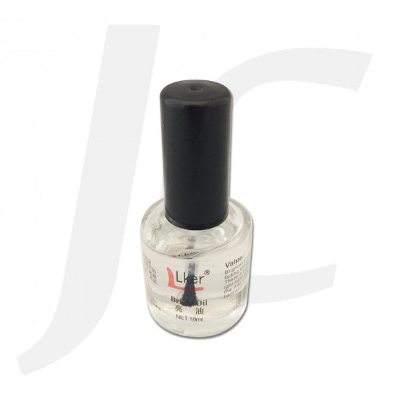 Lker or BNC Nail Hardener Bright Oil Top Coat 15ml J82HBO