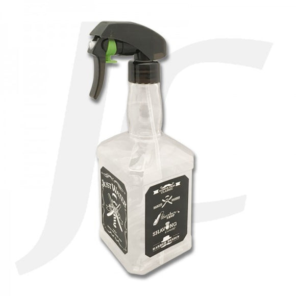 Large Barber Sprayer Classic Whisky Bottle Clear J24LWC