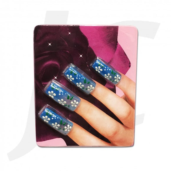 Nail Tip 3D-art Blue 10 pcs