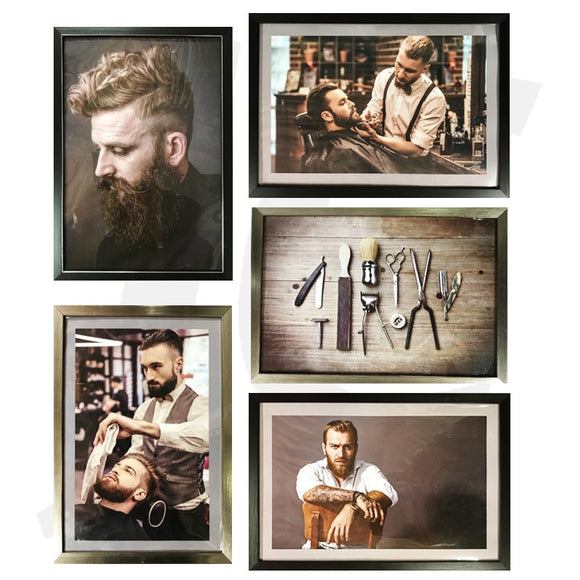 Barber Poster With Frame FY-I5 SET J36F5X