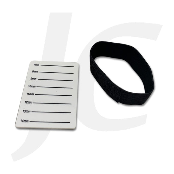 Lash Plate On Wrist Velcro Rubber Band