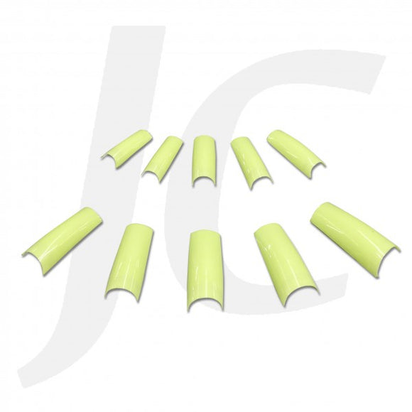 NAIL TIP PACK Half-stick Round-end Fluorescent-green 500pcs