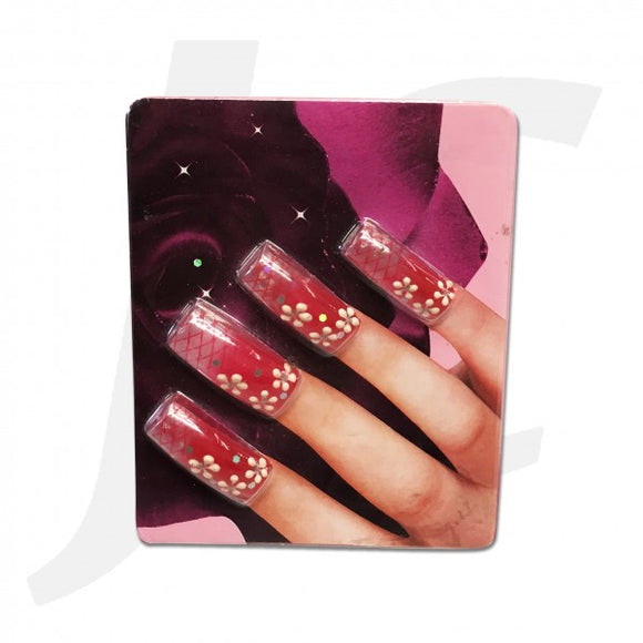 Nail Tip 3D-art Red 10pcs