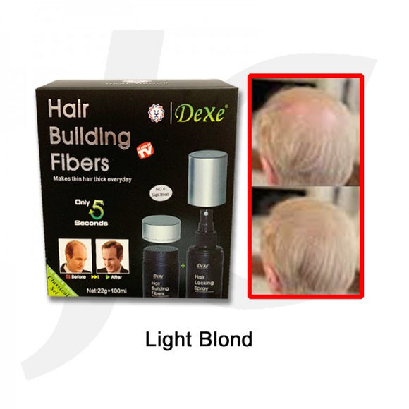 Dexe Hair Building Fibers Set 22g+100ml Light Blond J11HFL*