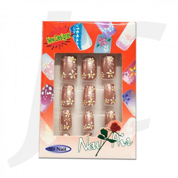 Nail Tip 3D-art Rose-gold 10pcs