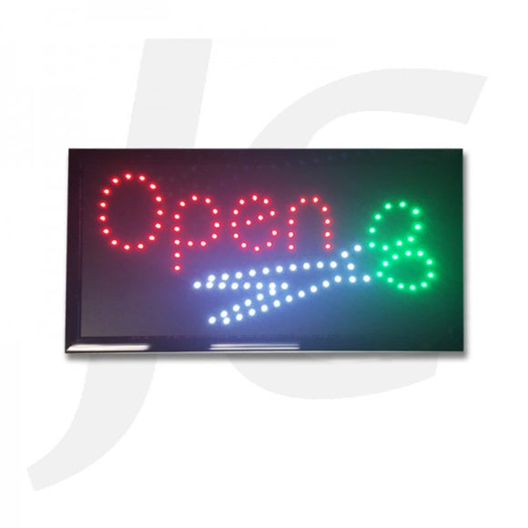 LED Open Sign Open With Scissors 48x25cm J35OSS