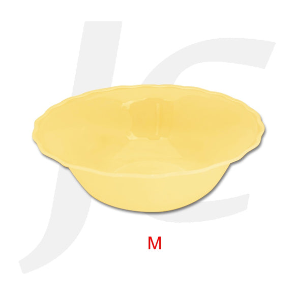 Plastic Medium Bowl Wave Edge Orange J64PMO