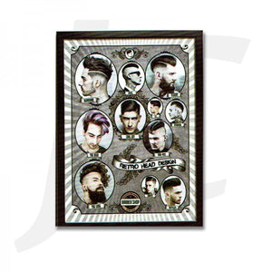 Barber Poster With Frame N-11 55x40cm J36N11