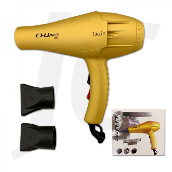 CHJ Pro 9900 Ionic Blow Dryer 2300W Golden J231CJB