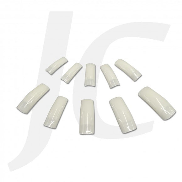 NAIL TIP PACK Half-stick Round-end Pearl-white 500pcs