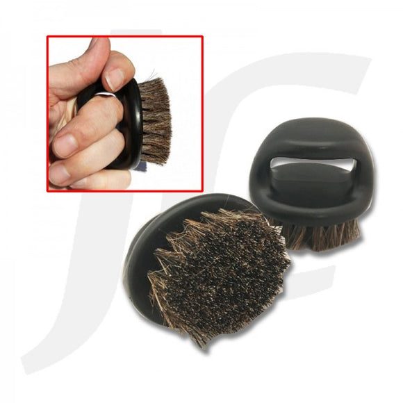 Barber Finger Nugget Brush Boar Bristle Black J24FBB