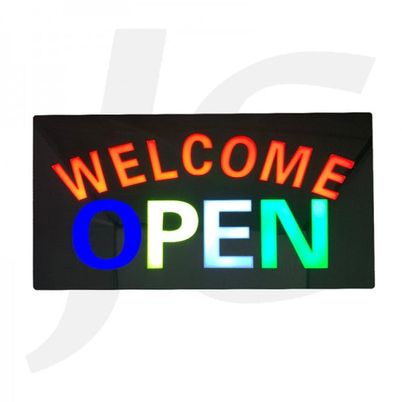 Welcome Open Sign J235WOS