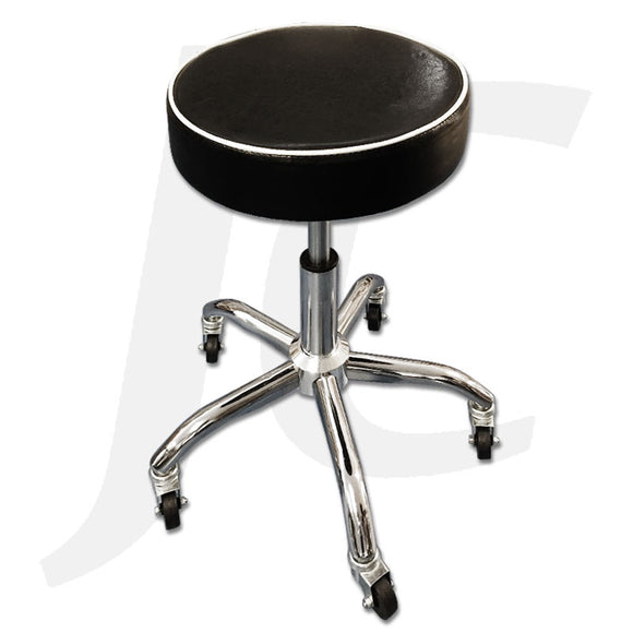 Stool On Wheel Black White Ring D05 J34DBW