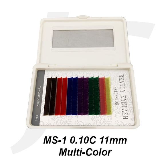 Beauty Eyelash Extension MS-1 0.10C 11mm Multi-Color J71MC11
