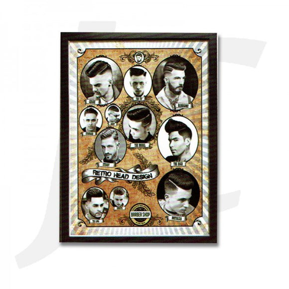 Barber Poster With Frame N-10 55x40cm J36N10