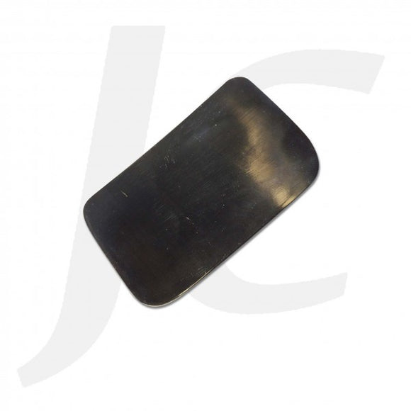 Black Ox Horn Scraping Piece Square Black 46x72mm J53BOS